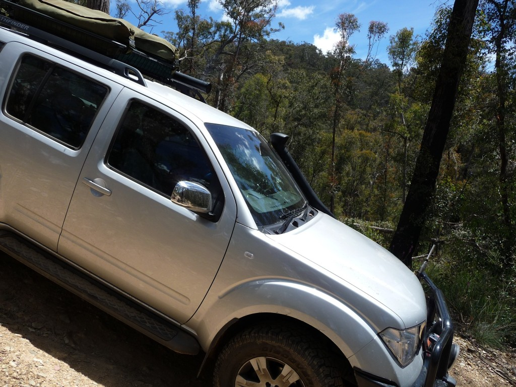 Nissan Pathfinder somewhere in the Victorian High Country
