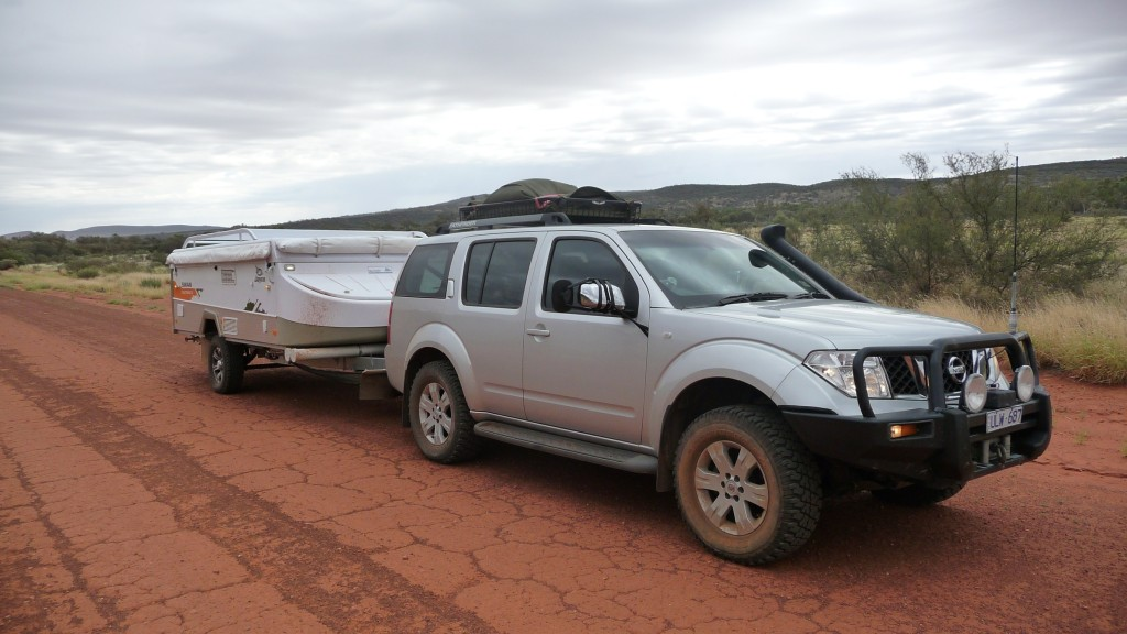 Nissan Pathfinder R51 on the Mereenie loop