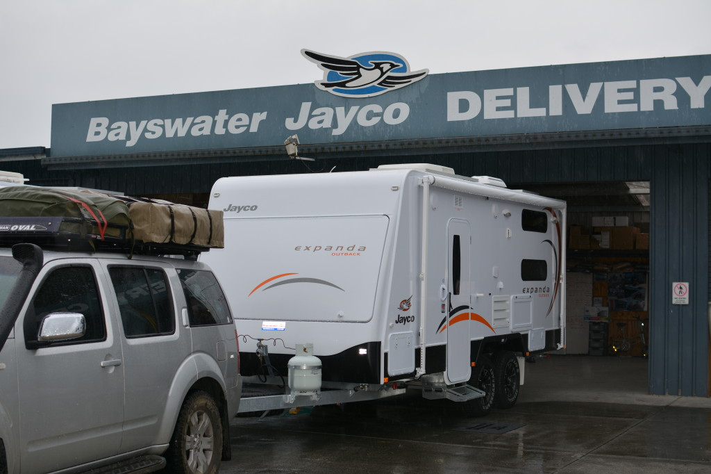 Wet pickup from Bayswater Jayco