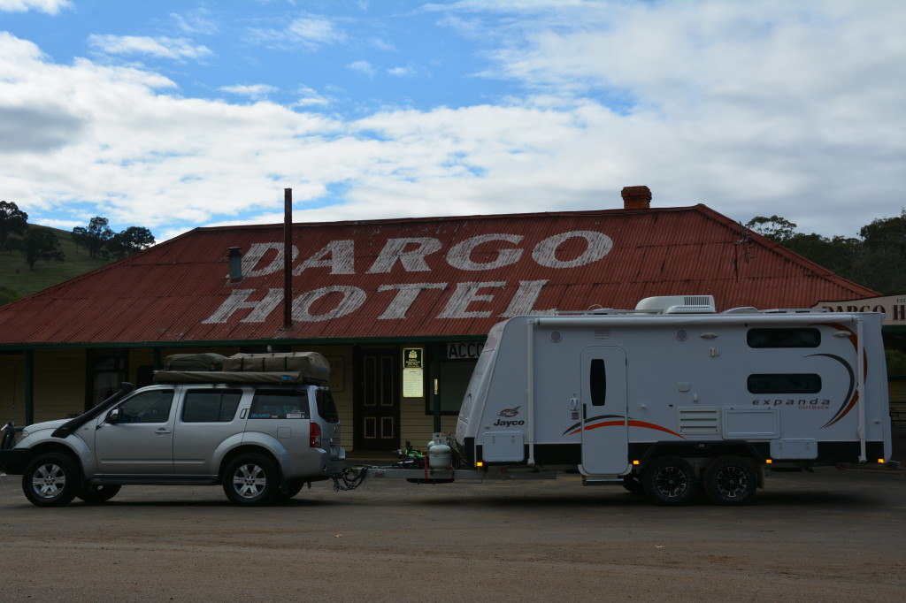 Jayco Expanda at the Dargo Pub, Victorian High Country