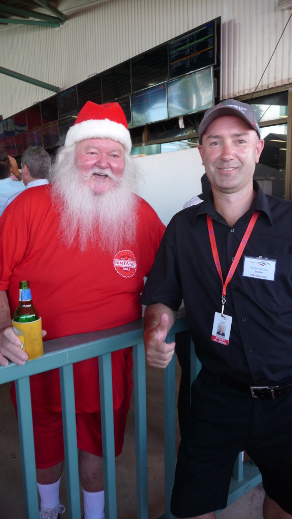 Santa paid a visit to the Darwin Cup