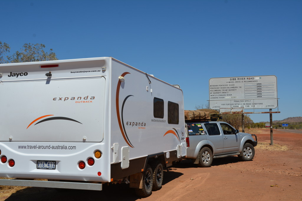 Clean caravan at the start of the Gibb River Road, Kimberley