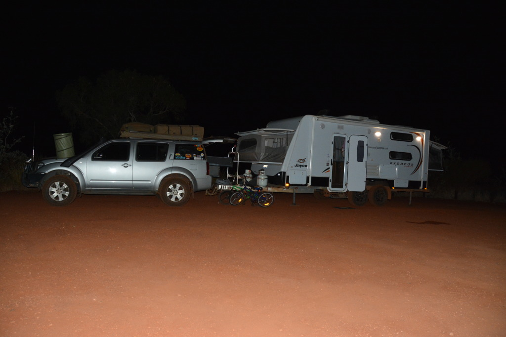 night free camp at python pool_pilbara