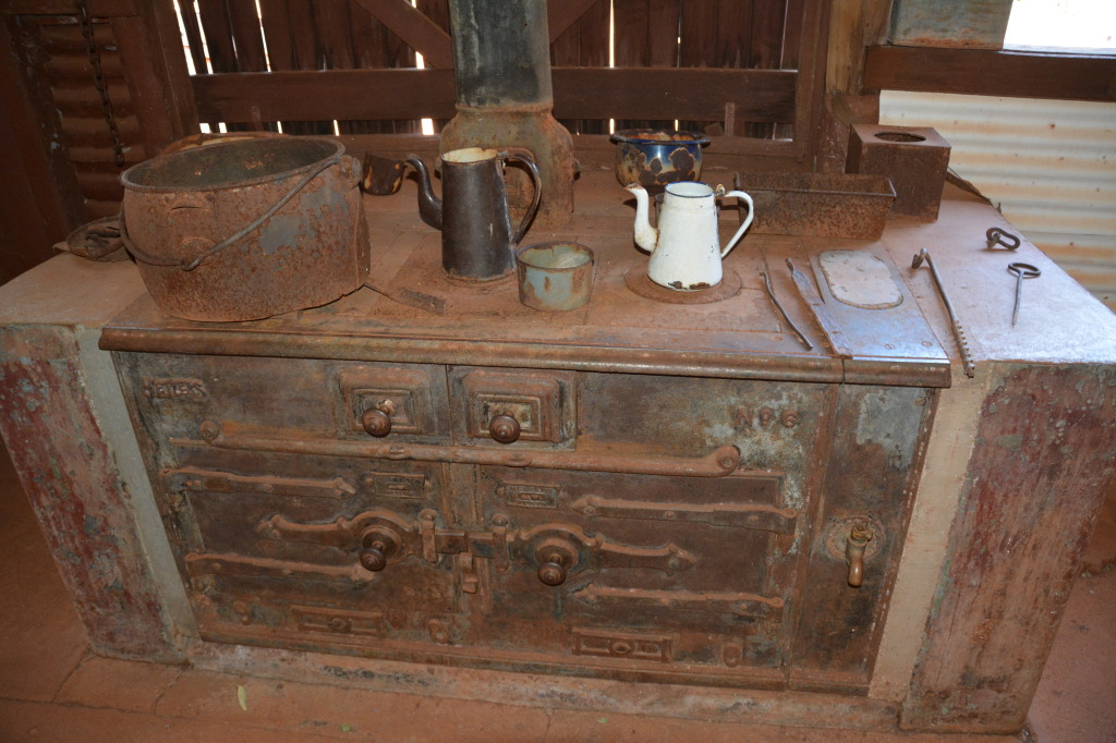Old stove at Millstream, Pilbara