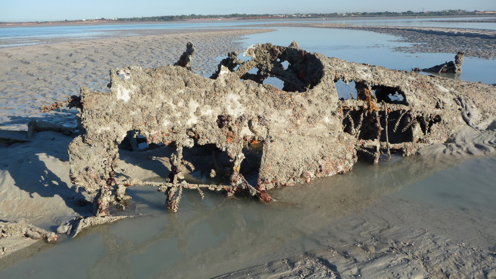 wreckage of flying boat broome
