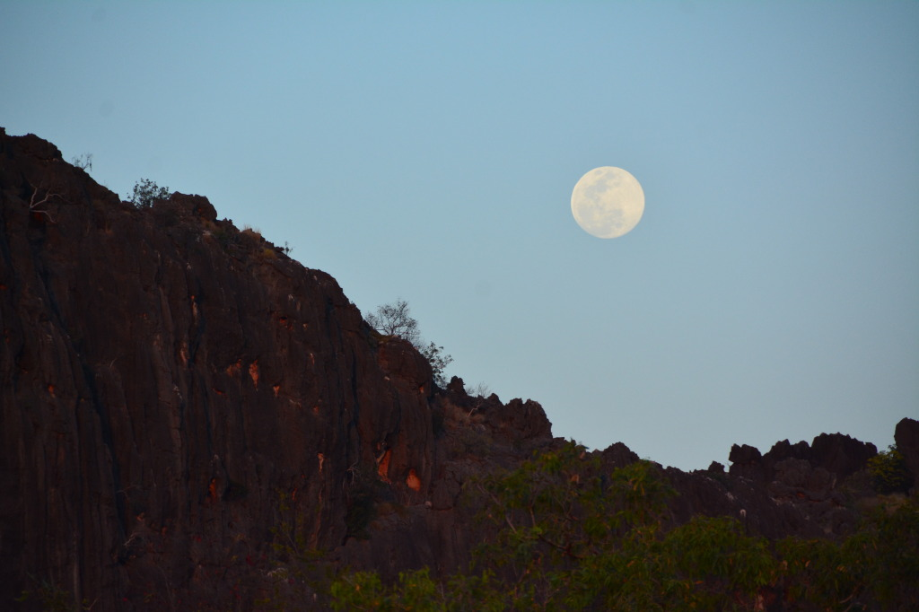 Moonrise at Windjana Gorge