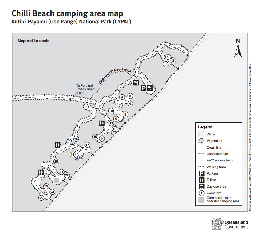 Chili Beach Map
