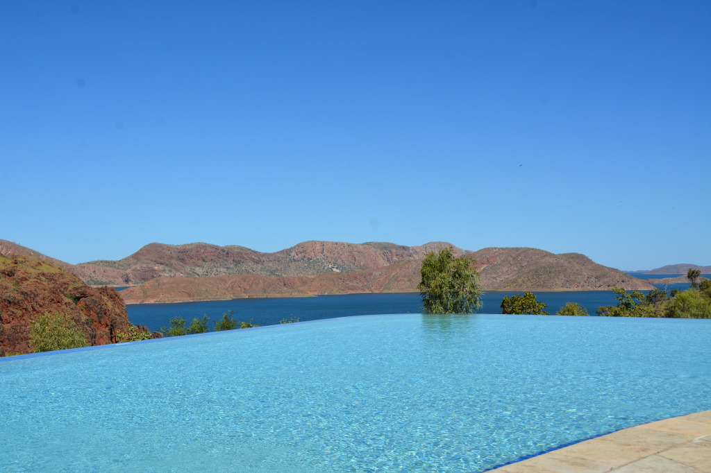 The pool overlooking Lake Argyle